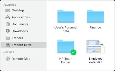 Tresorit Drive folders